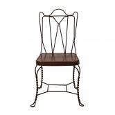 Cadeira de Ferro Provençal Marisa Marrom