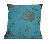 z Almofada Floral rústica 01 - azul